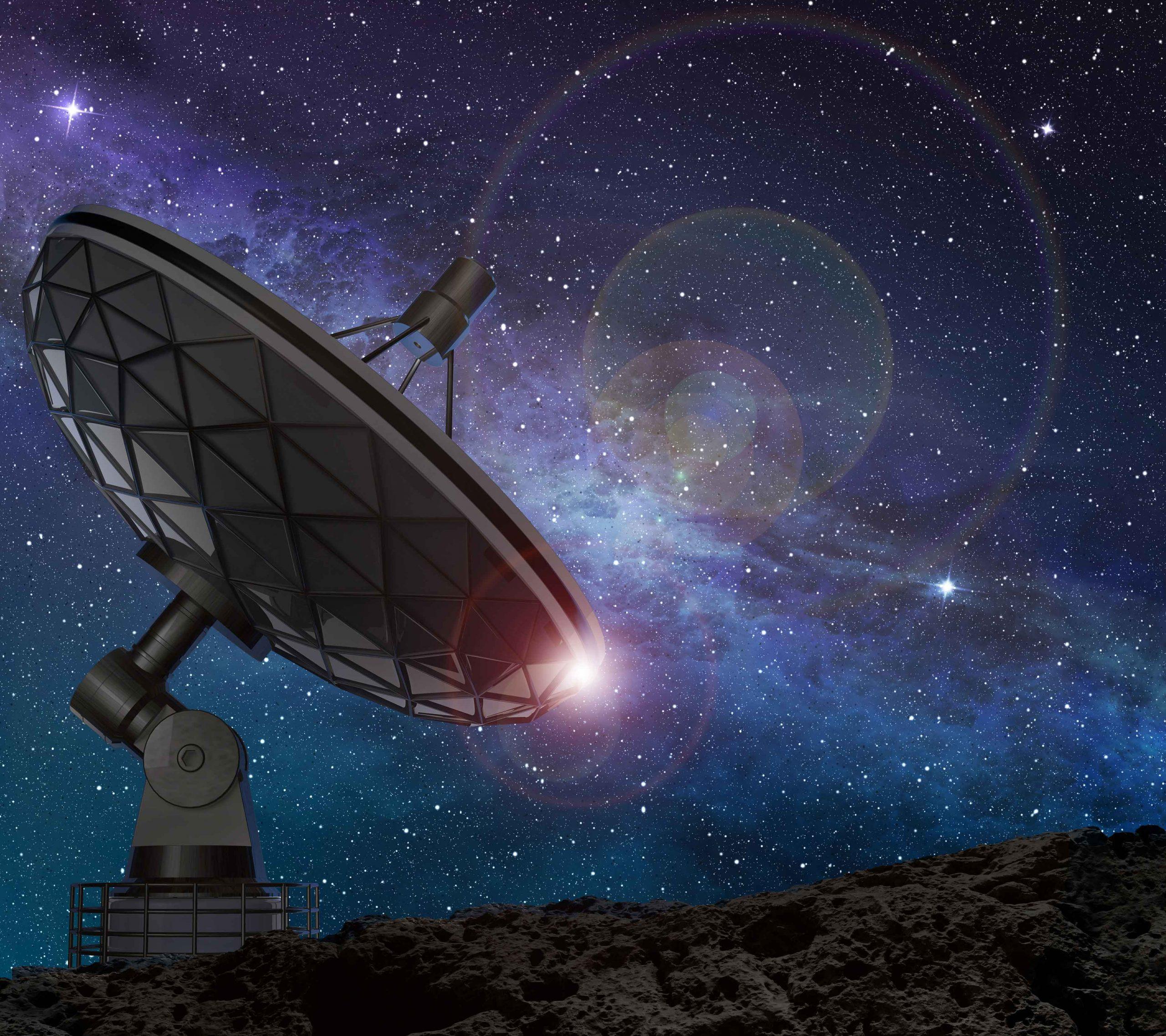 Radioteleskop-Detail